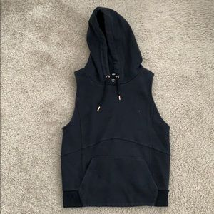 Black Abercrombie & Fitch Sleeveless Hoodie